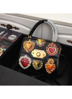 DOLCE&GABBANA MEDIUM  WELCOME BAG WITH BAROQUE EMBROIDERY