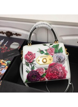 DOLCE&GABBANA MEDIUM SICILY BAG IN PRINT DAUPHINE CALFSKIN