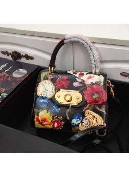 DOLCE&GABBANA MEDIUM SICILY BAG IN BROCADE WITH APPLIQUÉS AND EMBROIDERY