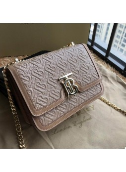 Burberry TB Exclusive Logo Quilted Lambskin Lock Bag