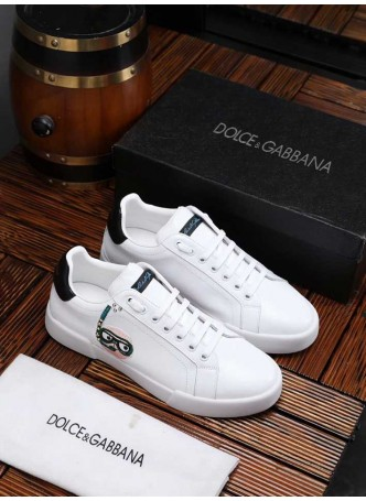 DOLCE GABBANA EUROPEAN AND AMERICAN CASUAL FASHION MEN'S SHOES LACE-UP SHOES