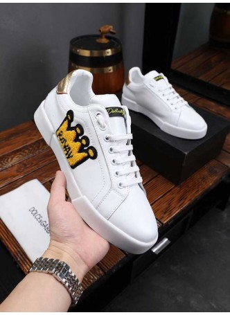 DOLCE GABBANA CROWN FASHION MEN'S SNEAKERS