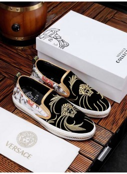 VERSACE NEW SPRING CASUAL LEATHER SHOES WILD 2019 SHOES