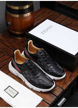 GUCCI EUROPEAN STATION MEN'S SMALL BEE CASUAL SHOES SNEAKERS