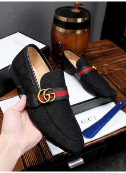GUCCI EUROPEAN STATION CASUAL SHOES BRITISH BREATHABLE SPORTS MEN'S LEATHER SHOES