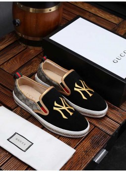 GUCCI EUROPEAN STATION LOAFERS CASUAL SHOES