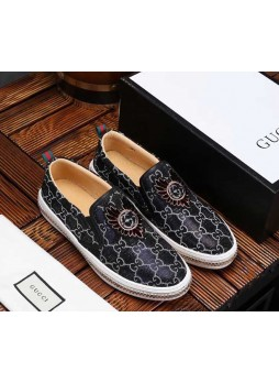 GUCCI 2019 EUROPEAN STATION ENGLAND WILD WILD SHOES MEN'S PEDAL LAZY SHOES BREATHABLE MEN'S SHOES