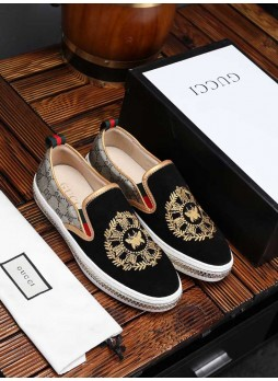 GUCCI EUROPE 2019 WILD LEATHER EMBROIDERED SNEAKERS