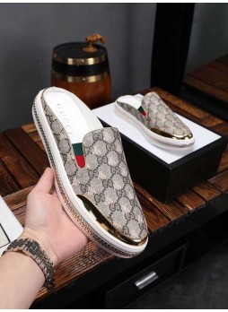 GUCCI 2019 CASUAL NON-STRAP LEATHER LOAFERS FLIP FLOP