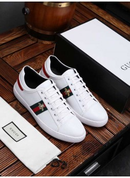 GUCCI EUROPEAN STATION EMBROIDERED LITTLE BEE CASUAL SPORTS SHOES