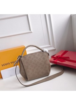 LOUIS VUITTON BABYLONE CHAIN BB MAHINA LEATHER BAG