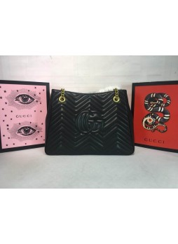 GUCCI MARMONT WAVE PATTERN SHOPPING BAG