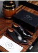 PRADA 2019 MEN'S BUSINESS DRESS BRITISH YOUTH LEATHER SHOES