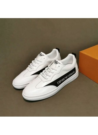 ARMANI 2019 leather single shoes trend board shoes wild British casual shoes