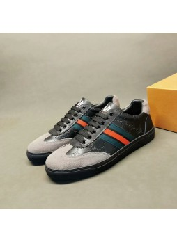 GUCCI EUROPEAN STATION LEATHER WILD CASUAL FASHION MEN'S SHOES