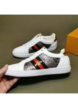 GUCCI  Embroidered Little Bee Casual Shoes Wild Casual Shoes