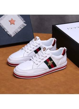 GUCCI  BEE EMBROIDERED CASUAL SHOES SNEAKERS