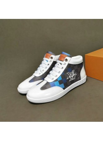 LOUIS VUITTON 2019 NEW HIGH-TOP SNEAKERS MEN'S SPORTS SHOES MEN'S SHOES