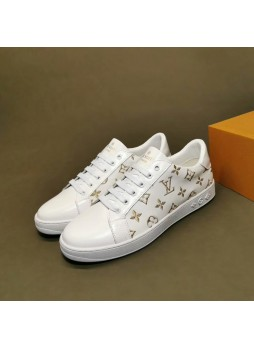 LOUIS VUITTON EUROPEAN AND AMERICAN LUXURY MEN'S SNEAKERS AUTUMN CASUAL FASHION SNEAKERS