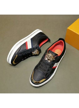 VERSACE EUROPEAN STATION NEW MEN'S SHOES CASUAL SHOES COLOR MATCHING