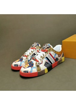 VERSACE EUROPE MEN'S SHOES MEDUSA PRINTED SNEAKERS SPORTS CASUAL SHOES