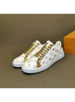LOUIS VUITTON EUROPEAN MEN'S SHOES CASUAL MEN'S SNEAKERS