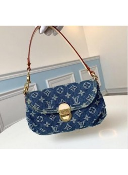 LOUIS VUITTON BLUE DENIM HANDBAG