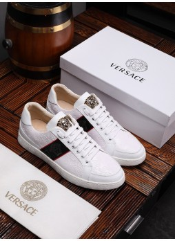 VERSACE EUROPEAN STATION SPORTS AND LEISURE MEDUSA MEN'S SNEAKERS
