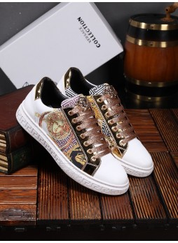 VERSACE DUMEISHA MEN'S SHOES EMBROIDERY EMBROIDERY BEAUTY HEAD IN EUROPE
