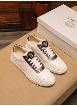 VERSACE EMBOSSED MEDUSA MEN'S FASHION YOUTH CASUAL SNEAKERS