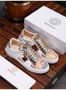 VERSACE EUROPE MEDUSA SHOES LEATHER CASUAL SHOES LOW-TOP SNEAKERS