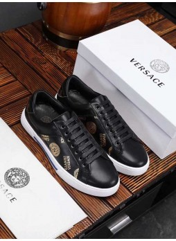 VERSACE EUROPE'S MEDUSA SIMPLE SNEAKERS WITH LOGO