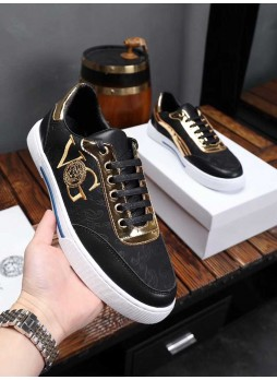 VERSACE EUROPE MEN'S SHOES MEDUSA SNEAKERS SHOES WITH LOGO