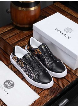 VERSACE MEDUSA SNEAKERS PRINTED CASUAL SHOES WITH LOGO
