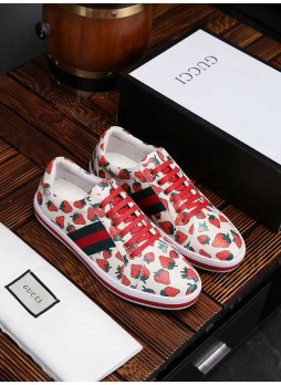 GUCCI EUROPEAN STATION SPORTS SHOES GG FABRIC SHOES