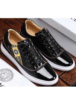 VERSACE HIGH-END EUROPEAN GOODS COLOR MATCHING WILD CASUAL SHOES
